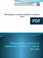 Compoziţia chimică şi valoarea nutritivă a cărnii de vită