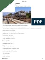 WDG4 loco details