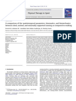 A Comparison of the Spatiotemporal Parameters, Kinematics, And Biomechanics