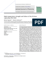 High temperature strength and failure of the Ni-base superalloy PM 3030