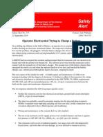 Safety Alert - Electrocution