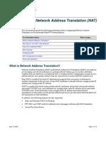 Configuring Network Address Translation (NAT)