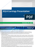 EARNINGS PRESENTATION - 3Q14