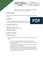 Instructivo de Verificacion y Calibracion de Equipos
