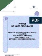 Projet de Circulaire Expliquant La Fiscalite Locale