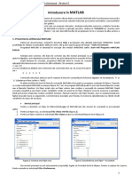 Proiect 5 - Introducere in Matlab