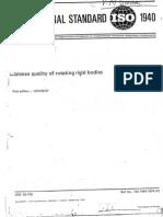 ISO 1940 for Balancing
