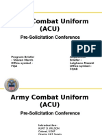 ACU Coats and Trousers Pre Solicitation Confrence PowerPoint