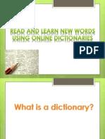 Using Online Dictionaries