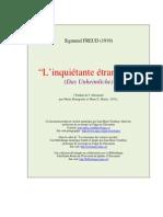 L' inquiétante étrangeté (Das Unheimliche) by Sigmund Freud