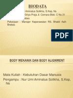 BODY MEKANIK Dan Body Alignment
