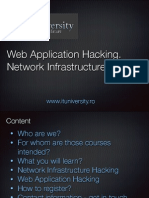 Web Application Hacking. Network Infrastructure Hacking