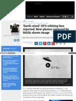 Www Examiner Com Article Earth Sized Ufo Orbiting Sun Report