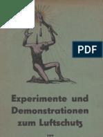 Experimente und Demonstrationen zum Luftschutz / Dr. Hugo Stoltzenberg / Hamburg / Luftschutz - Gasschutz