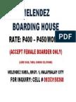 Melendez Boarding House