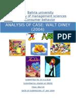 Walt Disney- Case Study Analysis