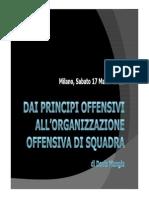 Dai Principi Offensivi All'Organizzazione Offensiva Di Squadra Milano CorsoInter