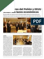 141114 La Verdad CG -Las Cámaras Del Peñón y EE UU Sellan Sus Lazos Económicos p.5