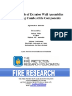 Bulletin Fire Hazards of Exterior Wall Assemblies Containing Combustible Components
