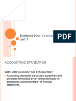 Summary Points for Accounting Unit 1 Module 1