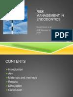 Risk Management in Endodontics