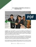 13-11-14 Las Instituciones de La República Combatirán La Opacidad y La Corrupción