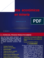 conceptos económicos aplicados a la mineria