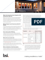 BSI Windows and Doors Factsheet UK En