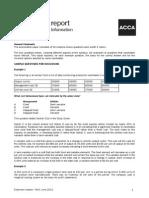 MA1 Exam Report June 2012