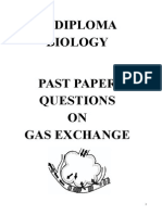 IB Past paper Gas Exchange Questions