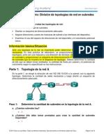 9.1.4.9 Lab - Subnetting Network Topologies OK