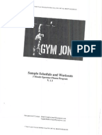 GYM JONES Operator Fitness Program