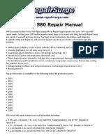 Volvo S80 Repair Manual 1999-2011