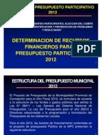 2012 - Presupuesto Participativo