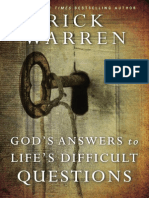 God's Answers to Life's Most Difficult Questions Sample