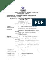 Finc 205 - Financial Mgt Syllabus