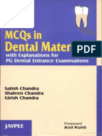 MCQ's in Dental Materials