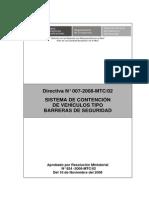 Directiva N007 2008MTC Barreras Seguridad