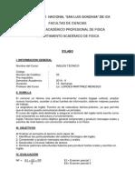 Syllabus Ingles