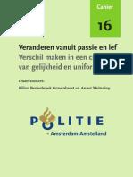 Bedrijfsstudie Cultuurverandering Politie Amsterdam Amstelland