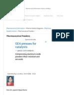 Pharmaceutical Powders
