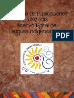 Catálogo de Publicaciones Acervo Digital de Lenguas Indígenas