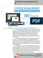 Systems management savings with Dell OpenManage on 13G Dell PowerEdge servers