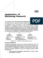 Application of Marketing Research