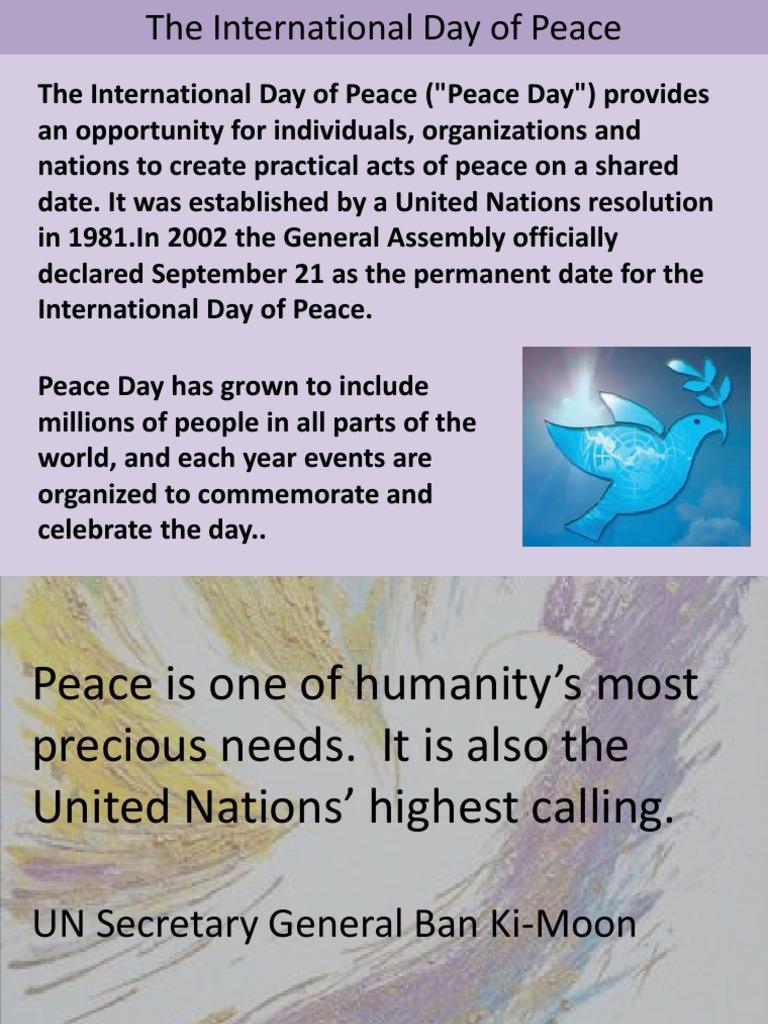 World Peace Ppt | Peace | World Peace