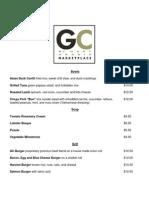 GC Marketplace Menu
