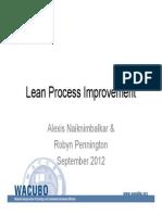 Lean Process Improvement Slides