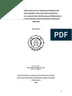 Analisis Kinerja Keuangan Terhadap Tindakan Manajemen Laba Pada Perusahaan Perbankan Yang Terdaftar Di Bursa Efek Indonesia Periode 2007