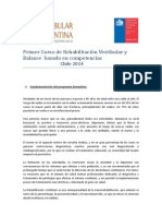 Curso Internacional de Rehabilitacion Vestibular