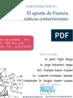 Las Relaciones Entre La Escuela de Matemática de La Universidad de Costa Rica y El Gobierno de Francia